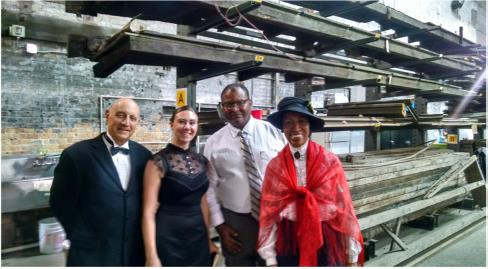 SAG-AFTRA actors bring to life Eugene Debs, Jennie Curtis, A Philip Randolph, and Lucy Parsons at an Illinois Labor History Labor Day event.