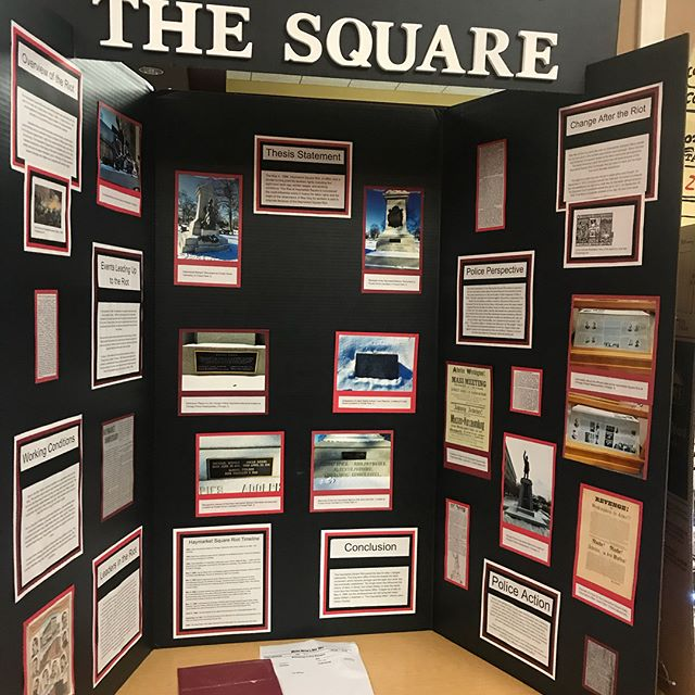 Wow the projects for Illinois History Day in Springfield!
