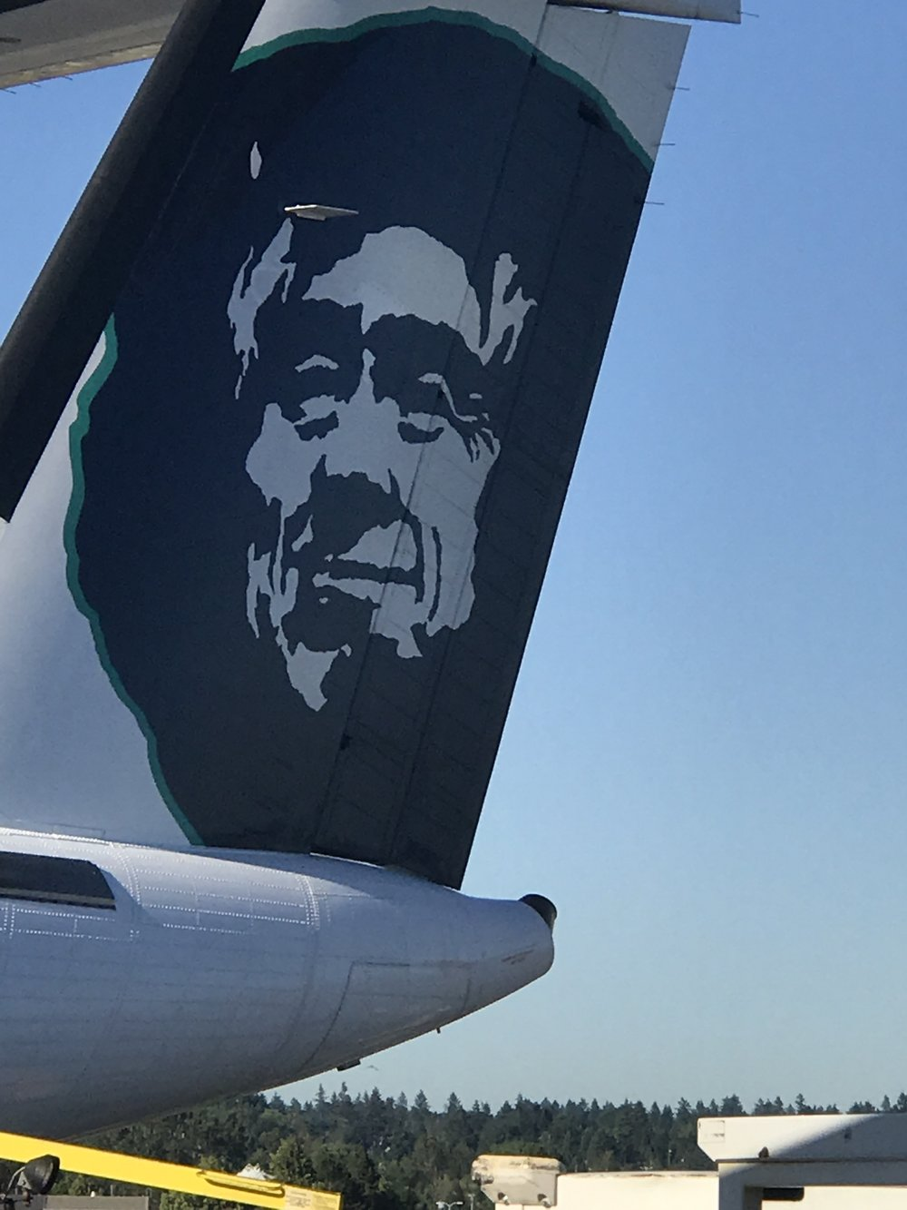 I flew on Alaska Airlines. That guy is their logo. Who do you think looks like him?