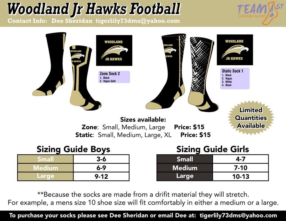 WOODLAND JR HAWKS FOOTBALL FLYER