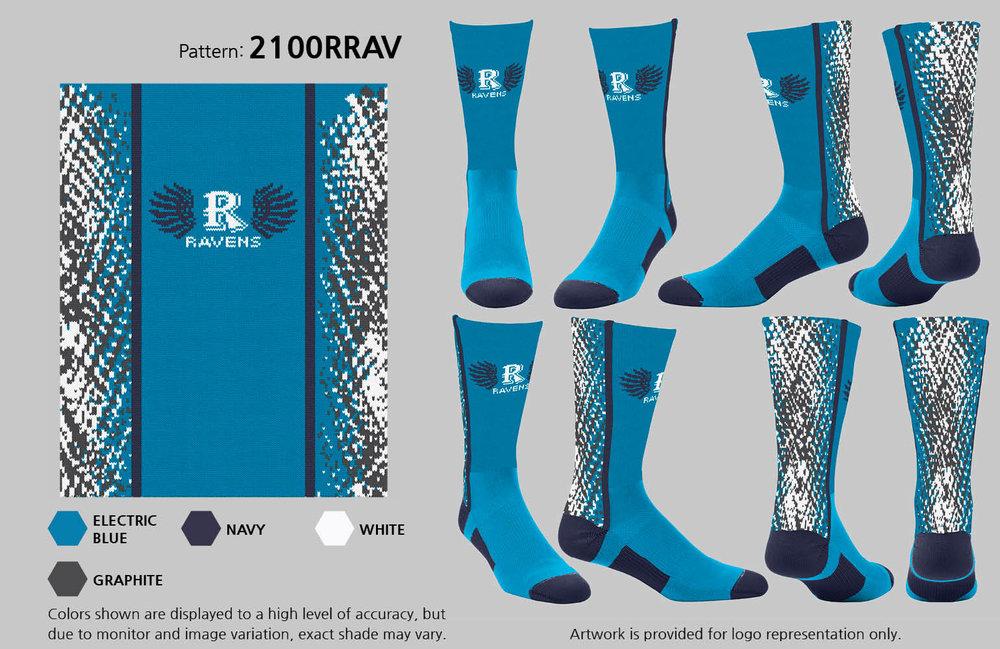 AUBURN RIVERSIDE FOOTBALL ELECTRIC BLUE STATIC