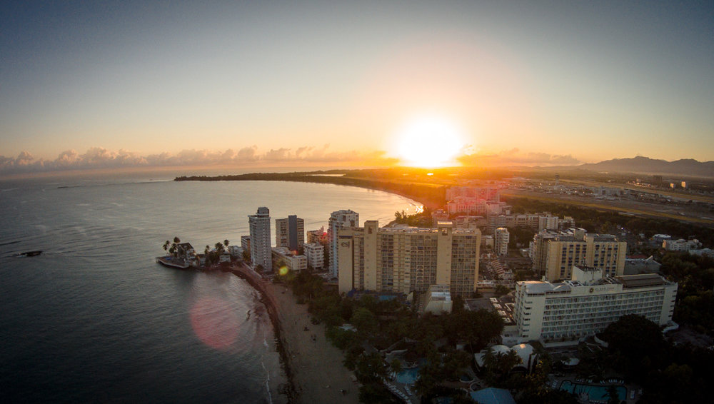 Sunset Over Puerto Rico - Drone