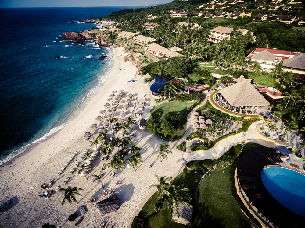 Drone Photo of Resort in Mexico