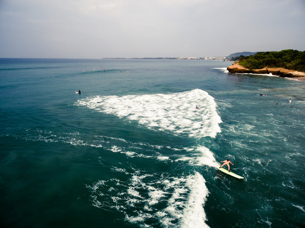 Copy of Drone Photo of Surfer in Mexico