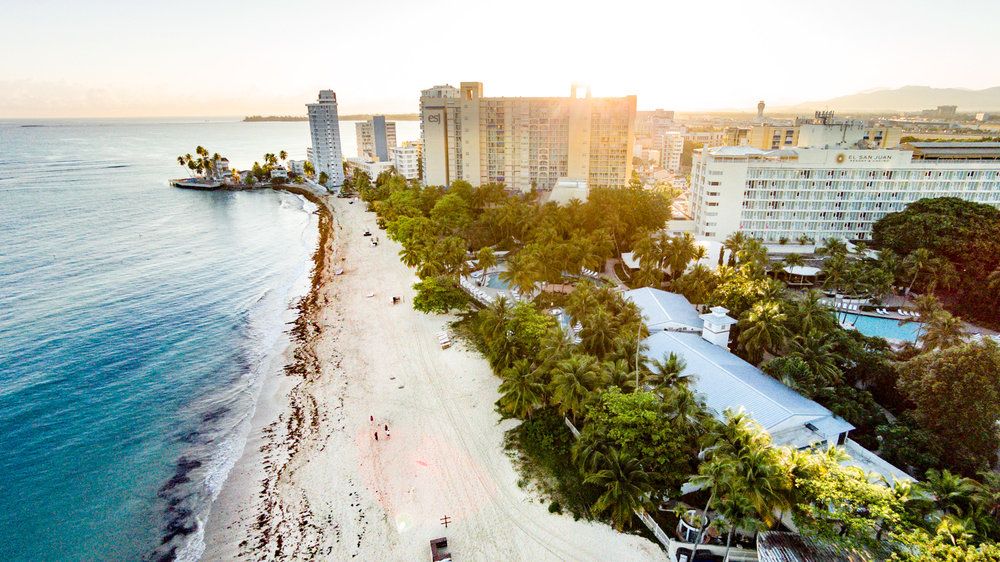 Copy of Drone Photo of Resort Area in Puerto Rico