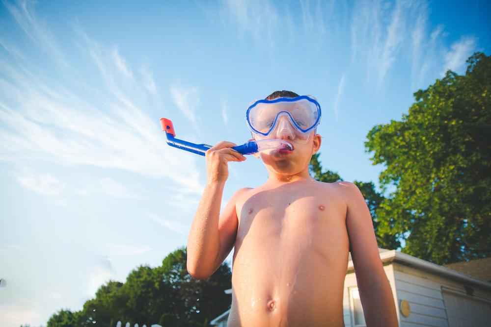 boy wearing snorkel Lisa R. Howeler
