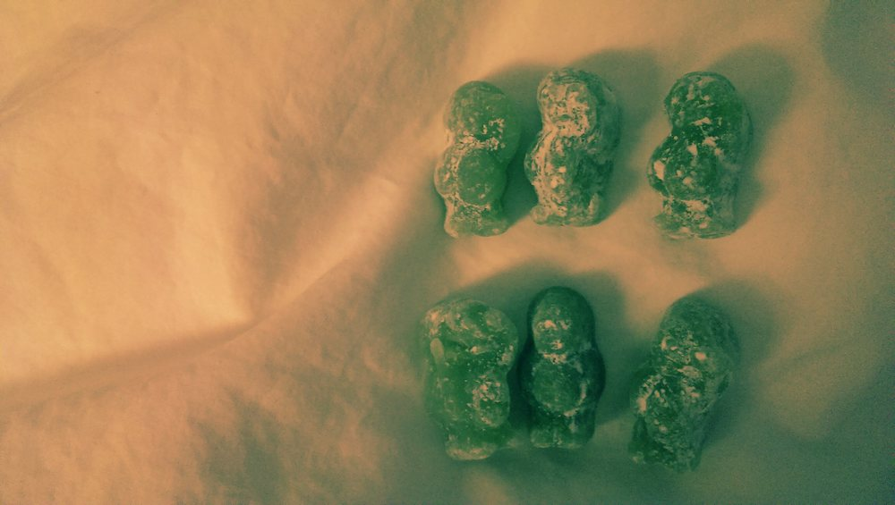 green monsters aka hypo-treating jelly babies