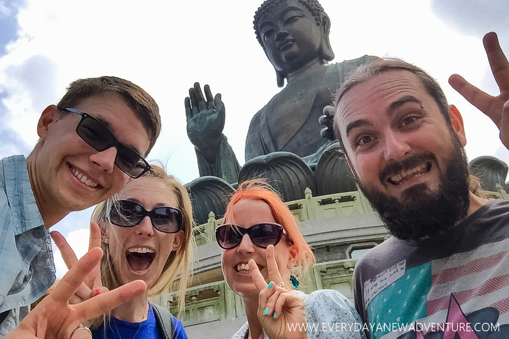 Checking out Big Buddha with Nelly and Lukasz!