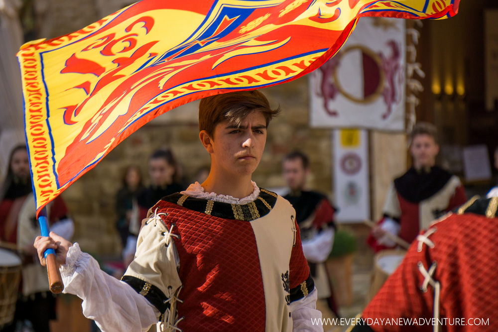 Flag Ceremony in Montepulciano