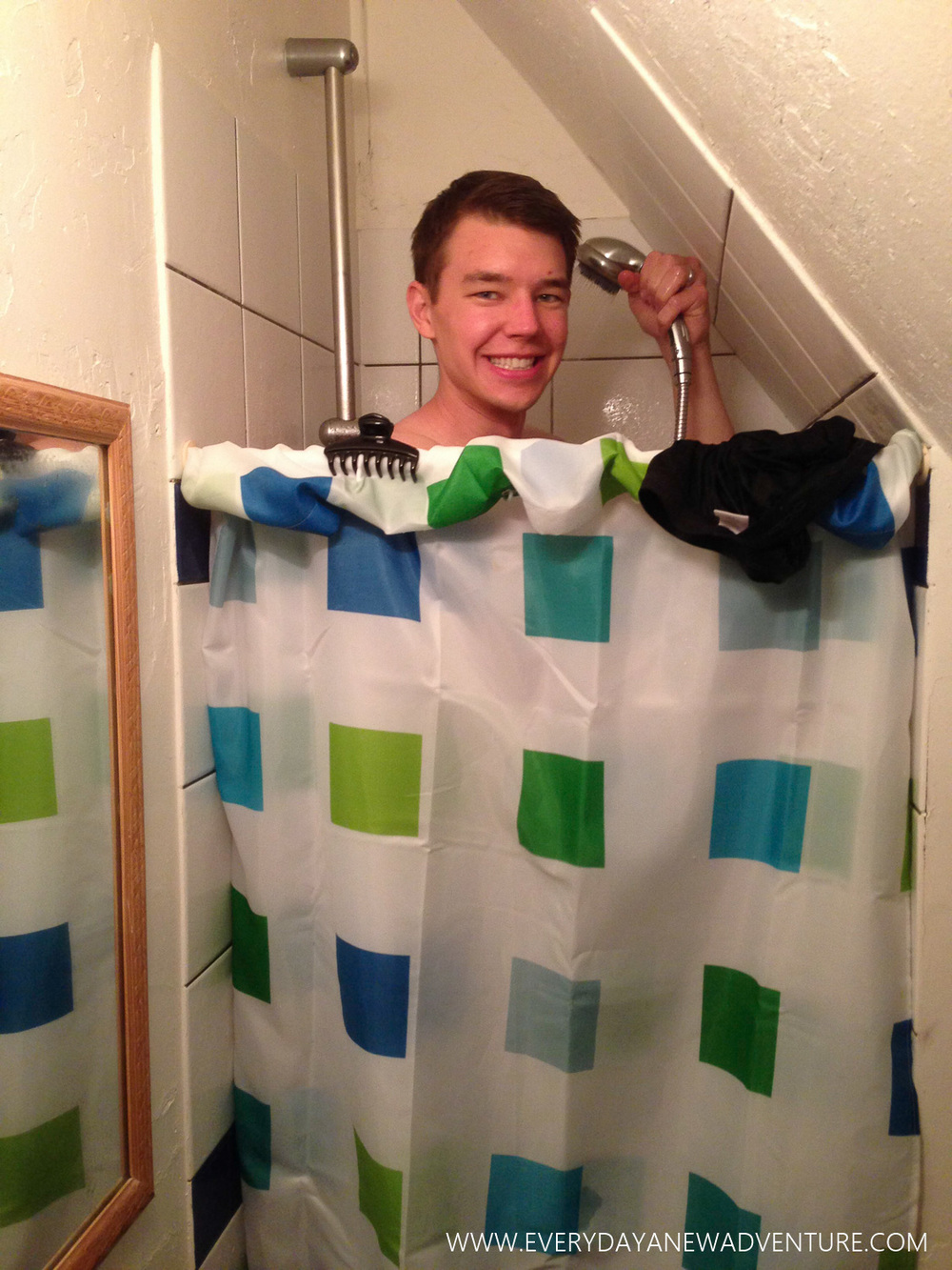 tiny shower!