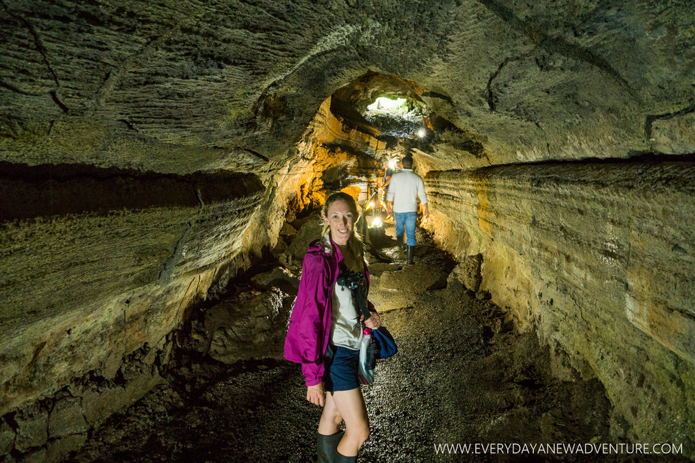 Wandering through the lava tube.