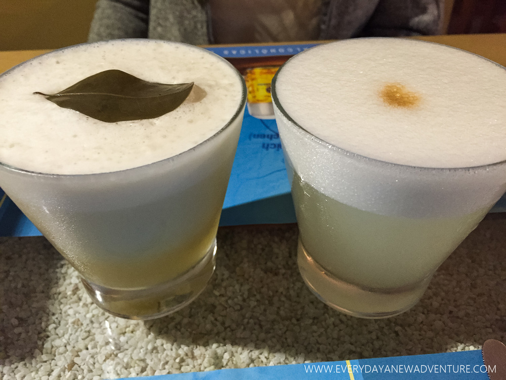 Our delicious pisco sours!