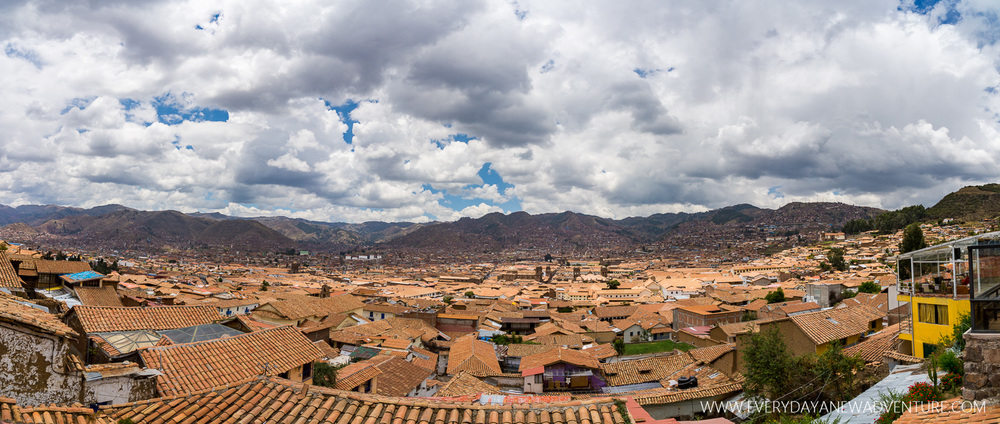 The rooftops of Cusco.
