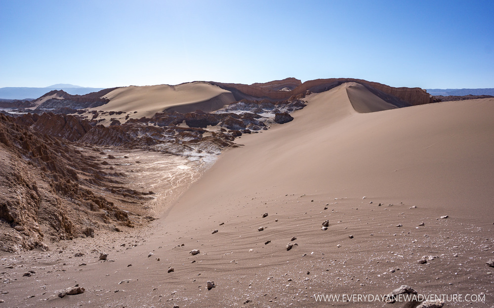 The sand dunes of La Valle de la Luna.