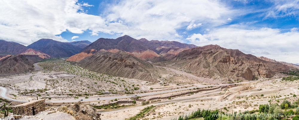 Tilcara's beautiful, mineral-rich hillsides.