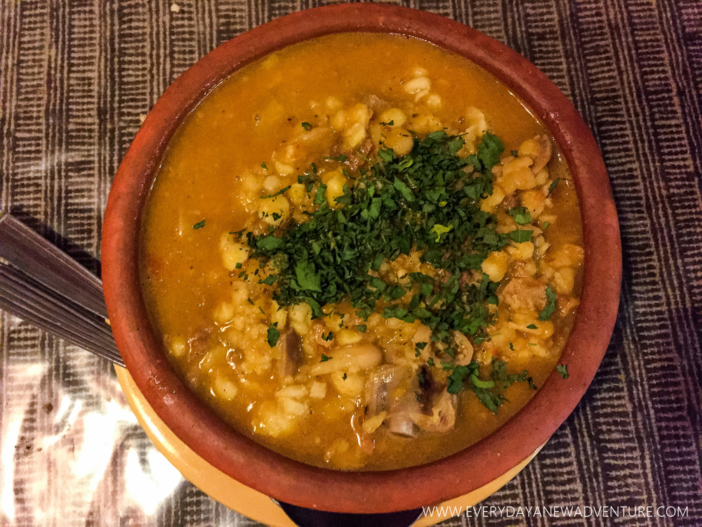 Locro, a specialty of the north.