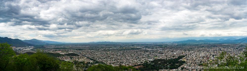 The view of Salta from the top of Cerro San Bernardo.