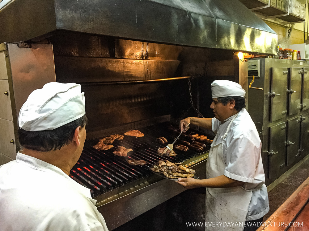 The grill at Parrilla Pena.