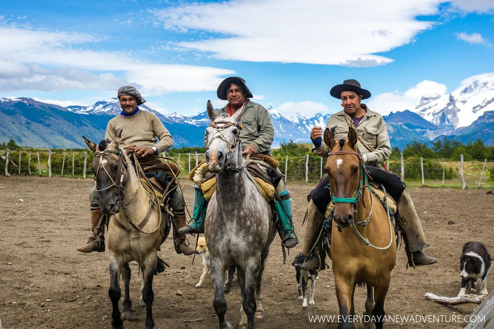 The gouchos at El Cochorro. El Tio is on the right.