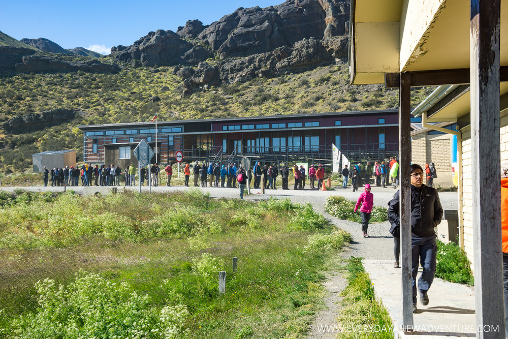 Park Registration at the entrance to Torres del Paine. Glad we were in front!