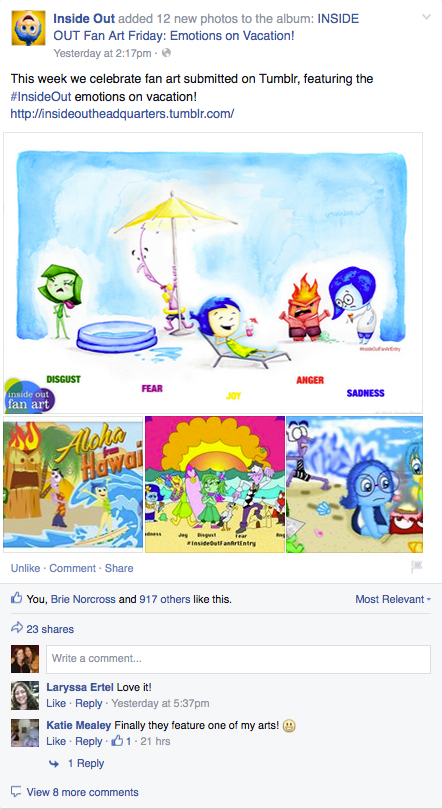 Inside Out Postcard Fan Art — Katherine Young Creative