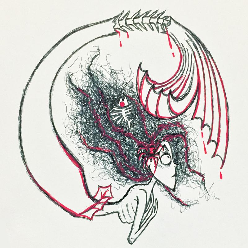 Tim Burton style mermaid