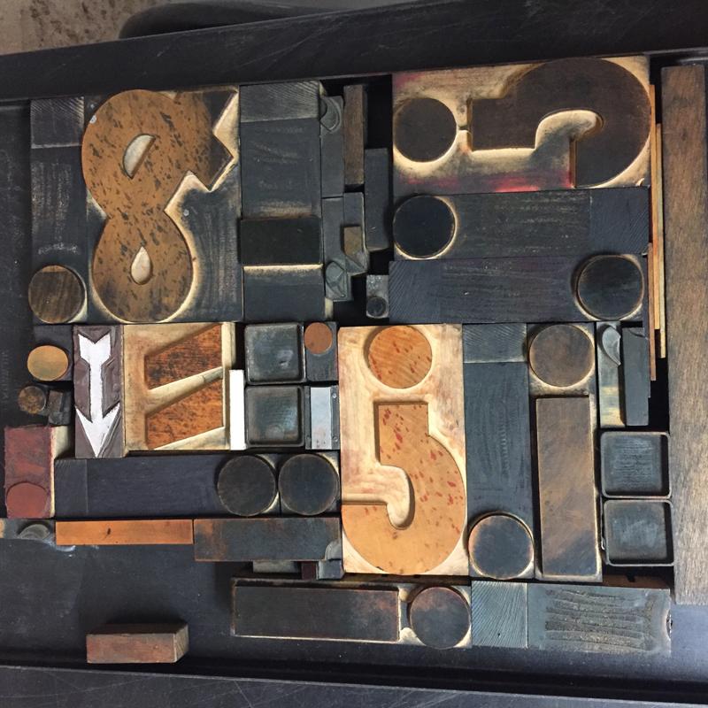 Wood type.