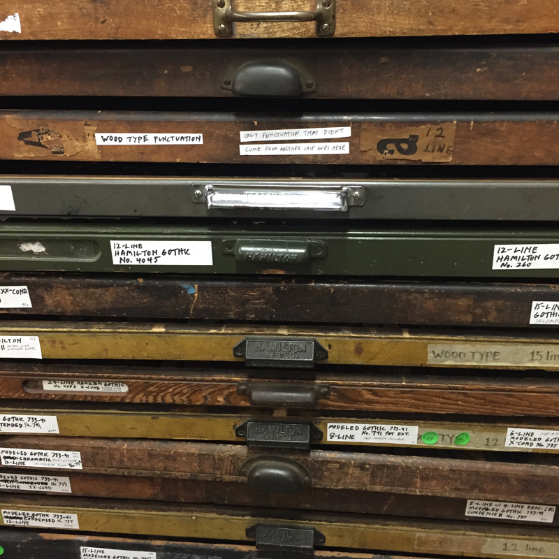 Font drawers