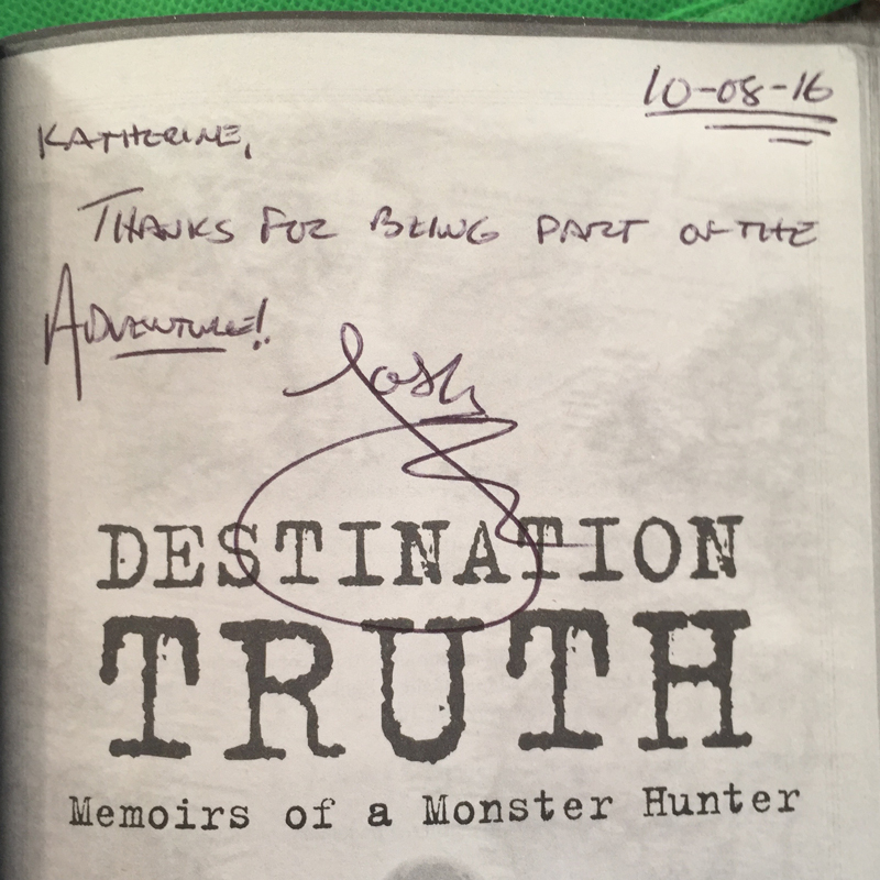 Josh took time to autograph and write in the book. Seriously, he didn't have to take that time.