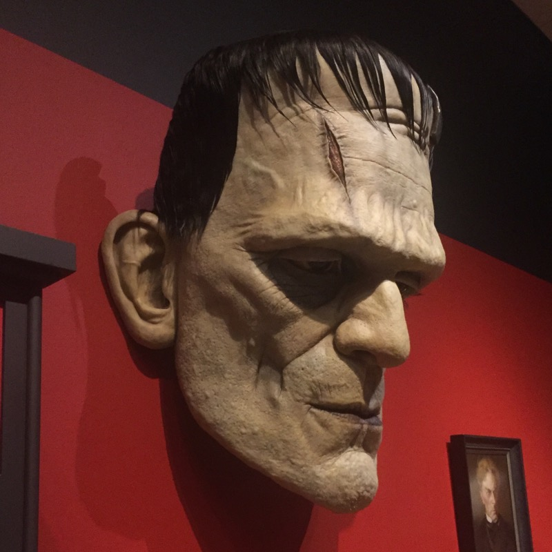 This gigantic Frankenstein bust has become a signature piece of the collection.