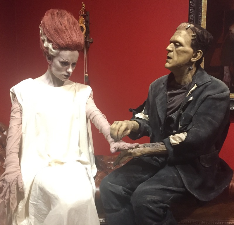 Frankenstein and his bride.