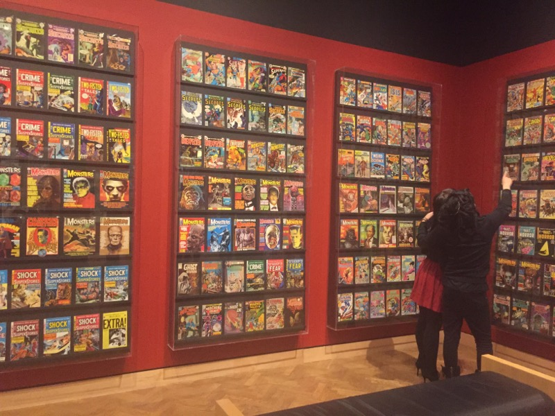 His collection of pulp magazines proves mainstream can be fine art.