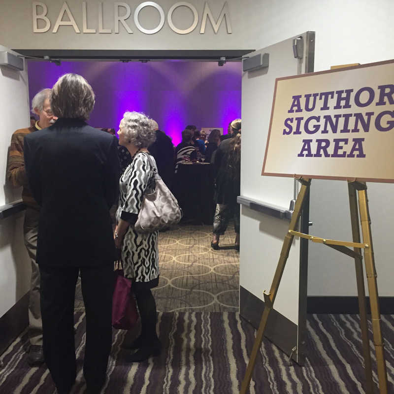 Author signing area.