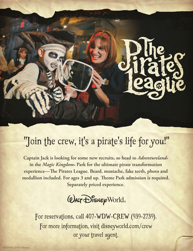 A poster I created to advertise the opening of  The Pirates League  experience.