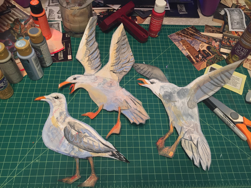 The finished seagulls.