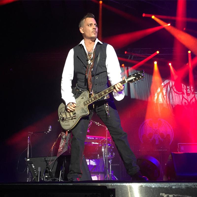 Johnny Depp rocking at Rockfest in Wisconsin.
