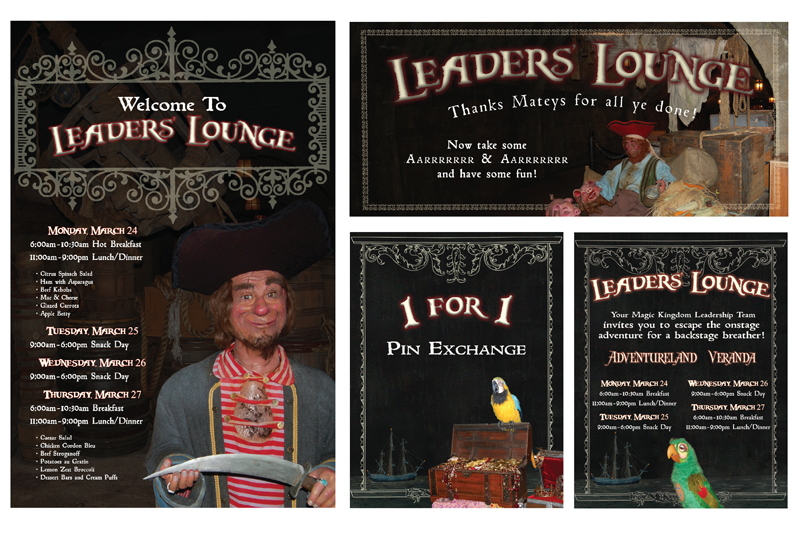 Here are some examples of pieces I created for the Cast Member event.