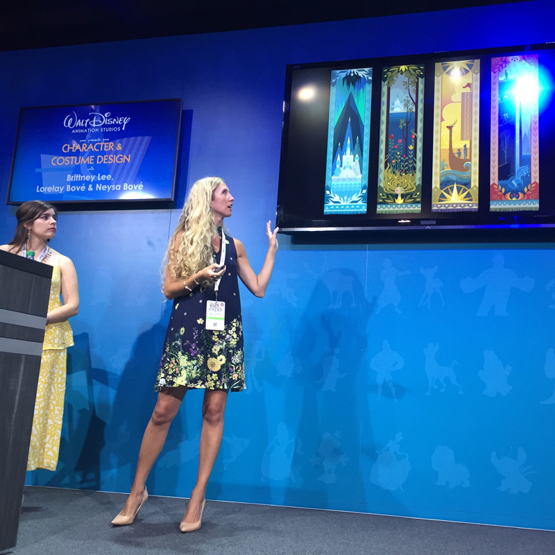 Britney Lee showing her seasonal concepts for  Frozen .