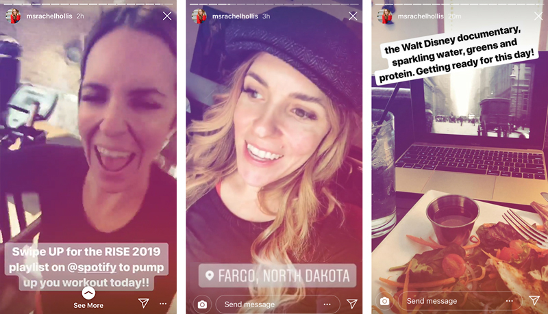 I greatly appreciate watching the Walt Disney documentary on a Mac Book Pro. I can relate. Photos are from Rachel Hollis's  Instagram  stories.