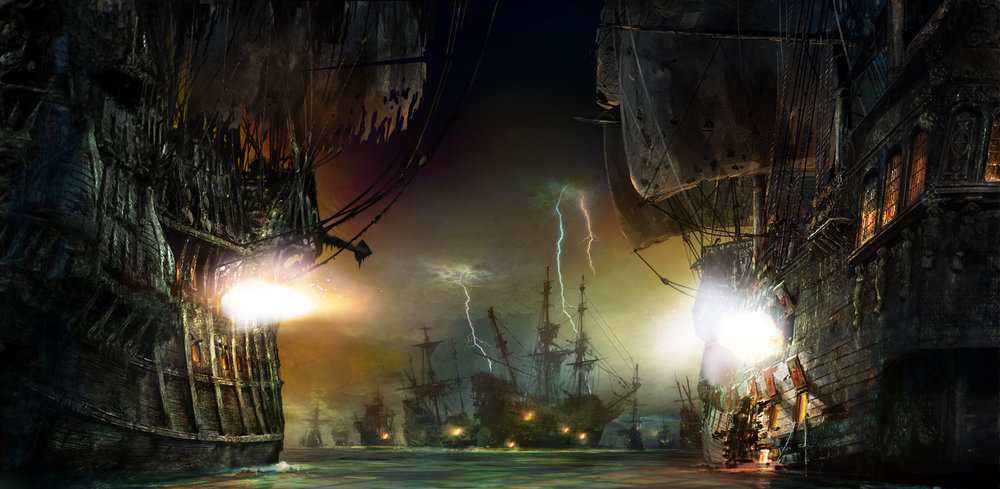9.pirates of the caribbean ship battle.jpg