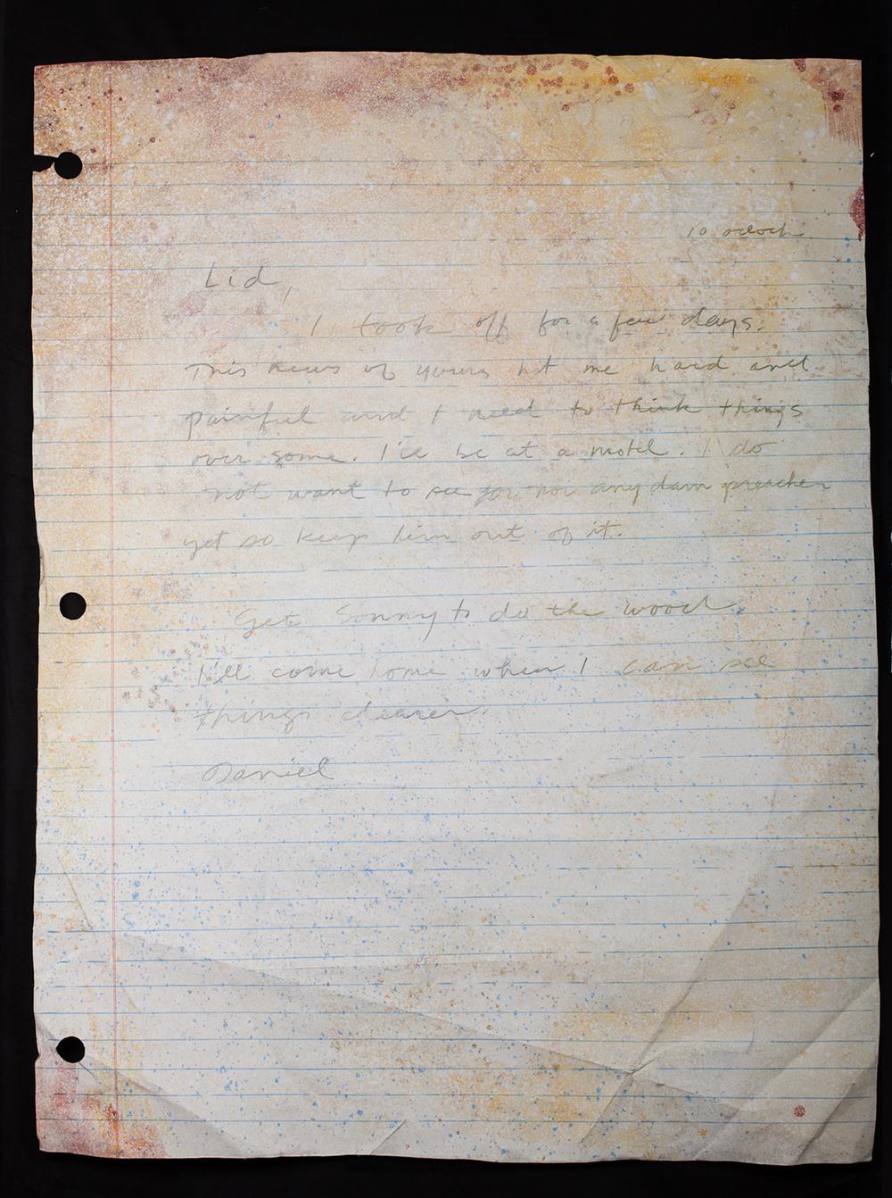 No. 19: Daniel's Note To Liddy.