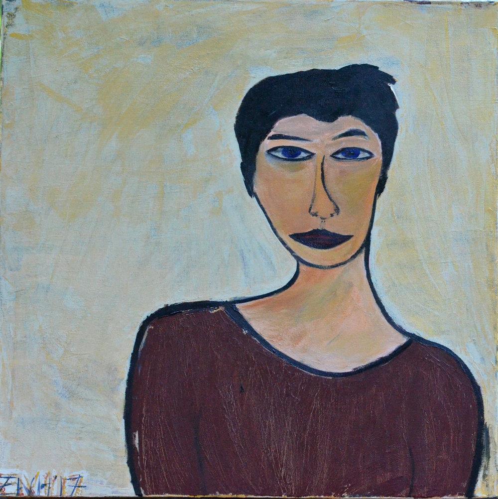 Jenn (2017, acrylic, 24 by 24)