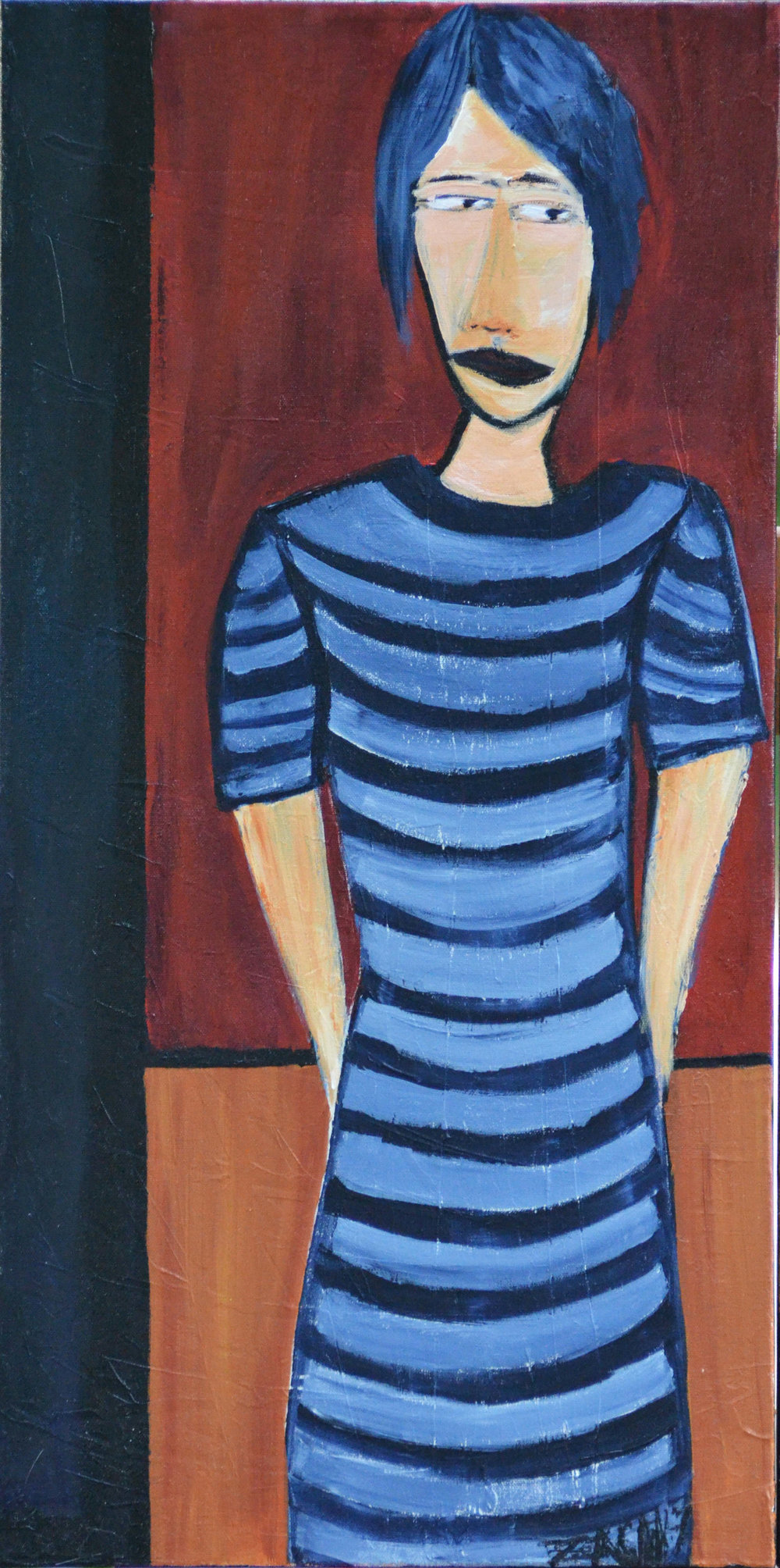 Woman in Stripes