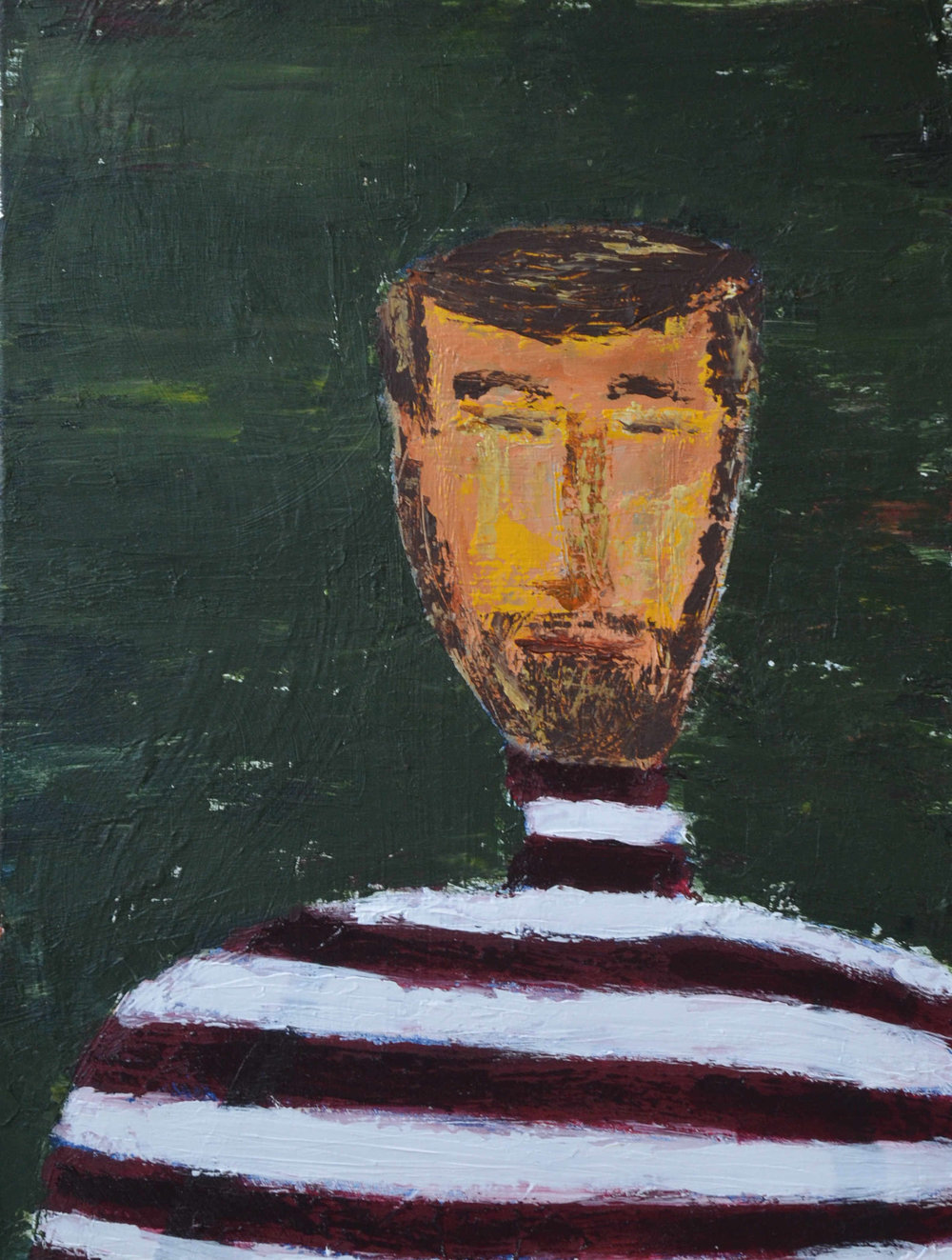 Man in Striped Shirt