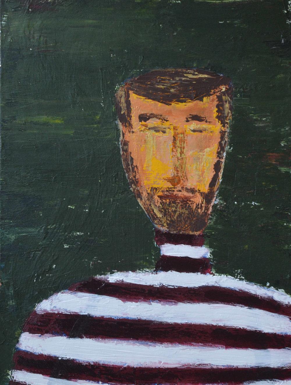 Man in Striped Shirt