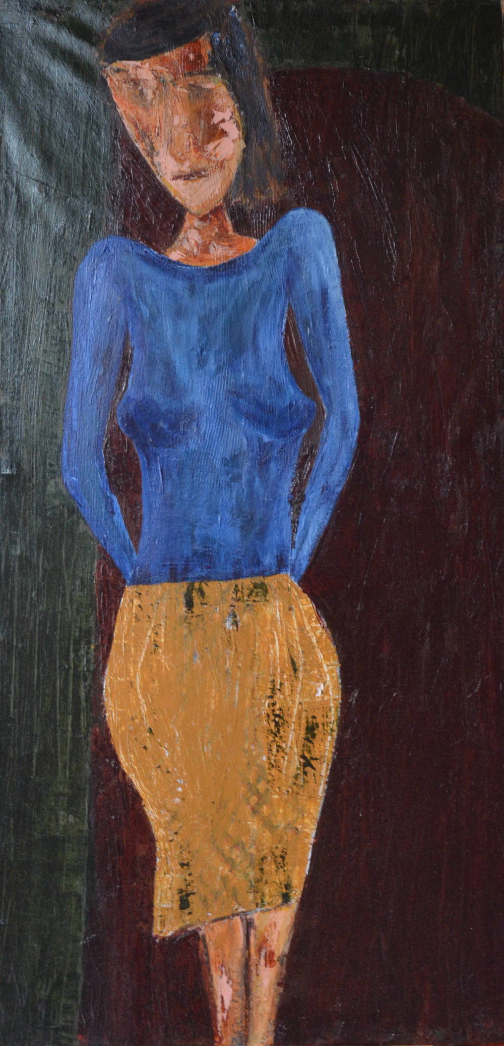 Woman in Yellow Skirt