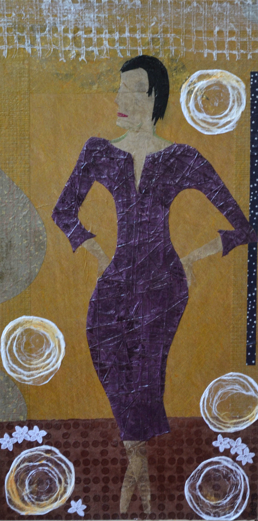 Woman in a Purple Dress