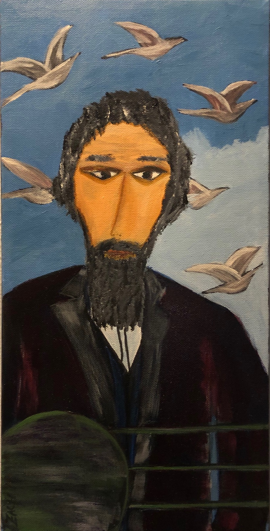 Man with Birds