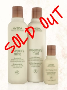 SMELLS LIKE AVEDA ROSEMARY MINT    $29.50 - SOLD OUT    Rosemary Mint Shampoo 250ml Rosemary Mint Conditioner 250ml Hand & Body Wash 50ml
