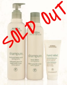 SMELLS LIKE AVEDA SHAMPURE    $45.50 SOLD OUT    Shampure Hand & Body Wash 200ml, Body Lotion 250ml, Hand Relief 40ml